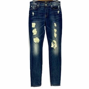 7 For All Mankind The Skinny Distressed Jeans 26